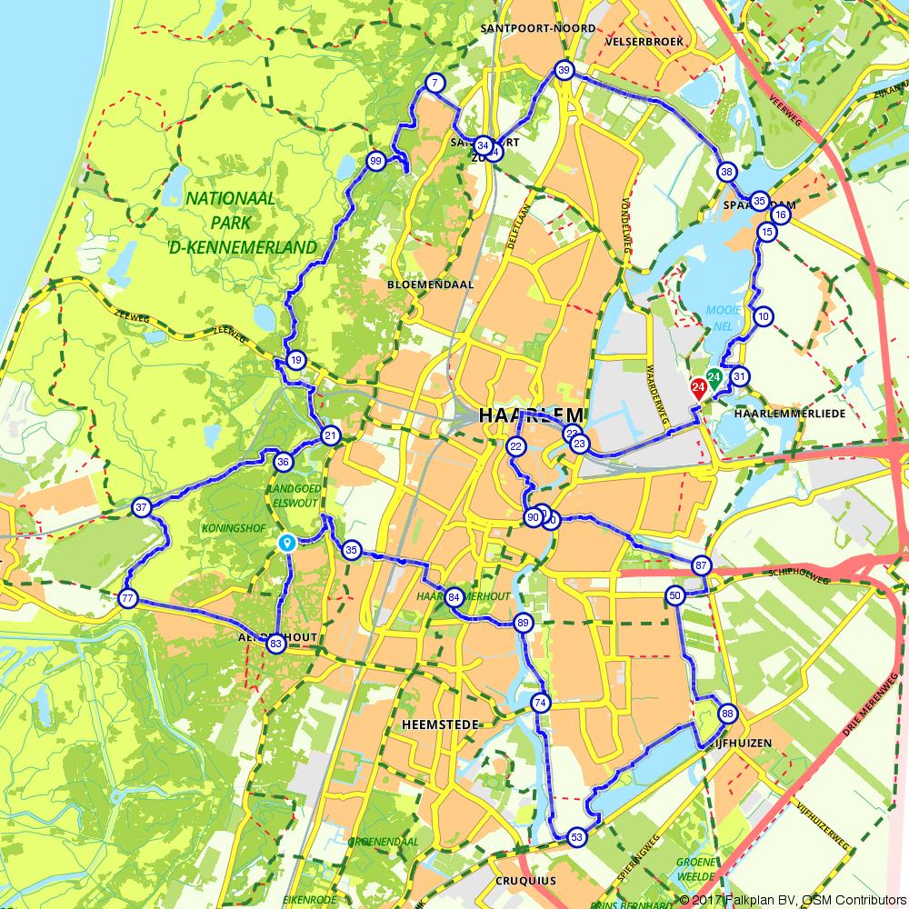 "Fietstocht ""In en rond Haarlem"""